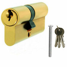 Brass Upvc Door Lock 60mm 30/30 Double Euro Profile Anti Drill Cylinder Barrel