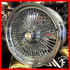 20x8 STD 150 SPOKE WIRE WHEELS STRAIGHT LACE CHROME RIMS (4pcs)