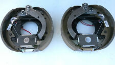 "PAIR AL-KO 12-1/4""x3-1/2"" Backing Plate Electric Brake K568255 ALKO Trailer Axle"