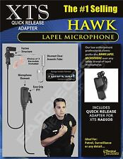LEO POLICE HAWK LAPEL MIC EARPIECE FOR MOTOROLA XTS5000 XTS3000 XTS2500 XTS3500