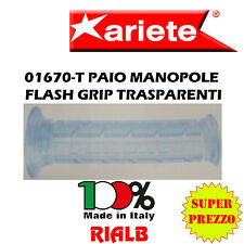 Paio Manopole Scooter FLASH GRIP TRASPARENTI ORIGINALI ARIETE 01670-T per YAMAHA