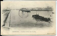 CP 50 MANCHE - Cherbourg - Torpilleur rentrant dans les Jetées
