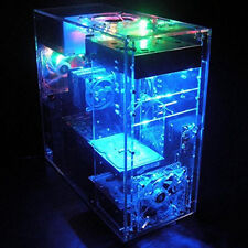 DIY Personalized Transparent Acrylic MOD ATX Computer Case Box PC Fan Heat Sink