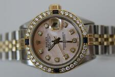 ROLEX LADIES DATEJUST 18K. AND STAINLESS STEEL PINK MOP DIA. DIAL DIA./SAP BEZEL