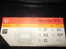 1976 MONTREAL OLYMPICS TICKET VERY RARE GYMNASTICS JULY 20 GOOD CONDITION