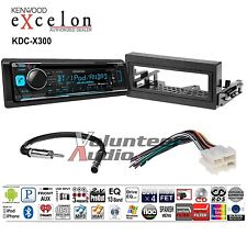 Kenwood Excelon Car Stereo Bluetooth CD Player Dash Install Harness Antenna