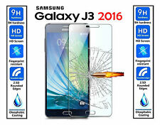 Genuine 100% TEMPERED GLASS ULTRA HD Screen Protector For Samsung Galaxy J3 2016
