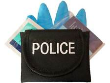 Embroidered POLICE Glove Pouch inc CPR KIT for Officer, Cop, Constable, PCSO 999