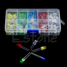 150Pcs/Set 3mm 5mm LED Light White Yellow Red Blue Green Assortment Diodes Kit
