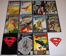 **SUPERMAN #75 + 500 + DEATH / FUNERAL FOR A FRIEND SET LOT**1993, DC**MOVIE!**