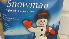INFLATABLE 8 '  fT LIGHTED SNOWMAN CHRISTMAS LAWN DISPLAY