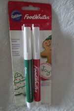 Wilton Food Writers Christmas Color Edible Color Markers New 609-102