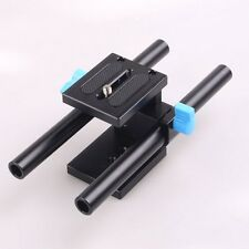 15mm Rail Rod Support System Baseplate Mount For DSLR Follow Focus Rig 5D2 5D3-A