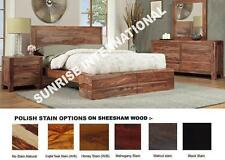 Modern 5 pc Wooden Bedroom Set - 1 Queen size Bed ,2 bedside,1 dresser,1 Frame !