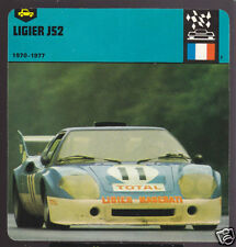 1970-1977 LIGIER JS2 French Race Car Picture 1978 CARD