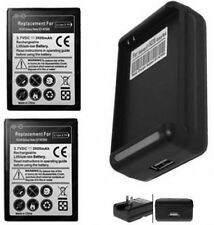 TWO Batteries + Charger for Samsung Galaxy Note i9220 GT-N7000ZBADBT N7000ZBAXEU
