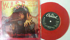 """Wasp, I don't need no doctor, NEW/MINT Ltd RED VINYL 7"""" single in """"Blood Pack"""""""