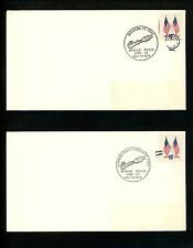 US Postal History Space Apollo-Soyuz Link Up and Splash Down 1975 Set of 4