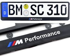 BMW M Performance M1 M3 M5 M6 License Plate Frames UK Size NEW 2Pcs 2000-2016