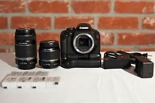 Canon EOS Rebel T2i / 550D w Grip, Lenses & Extra Batteries