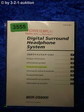 Sony Bedienungsanleitung MDR DS8000 Digital Surround Headphone System (#3555)