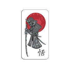 Samurai and Red Moon - Japanese Asian Sword - Metal Lapel Hat Pin Tie Tack