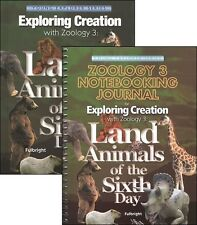 Apologia Zoology 3: Land Animals SET-Textbook and Notebooking Journal NEW