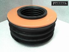 "uPVC Waste to Soil Adapter Cap Pipe Reducer 110mm 4"" to 50mm 2"" Underground"