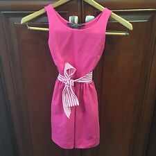POLO RALPH LAUREN  Girls Fit & Flare  Dress Regatta Pink Size 7 NWT