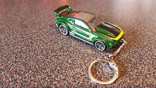 Diecast Ford Mustang Custom Green Toy Car Keyring Keychain