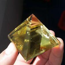 TOP!! 58g Natural Citrine Quartz Crystal Pyramid Healing China B1045