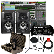 NEW Pro Tools First Home Studio Recording Bundle Package Mic ART Tascam Speakers