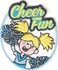 """""""CHEER FUN"""" PATCH - SPORTS - GAMES - TEAM SPIRIT - IRON ON EMBROIDERED PATCH"""