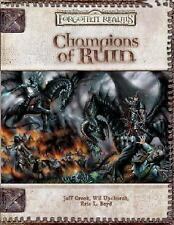 Champions of Ruin (Dungeon & Dragons d20 3.5 Fantasy Roleplaying, Forgotten Real