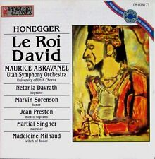 Honegger  King David Metania Davrath, Maurice Abravanel Utah Symphony VANGUARD