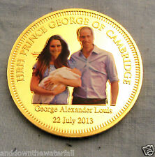 Baby Prince George Coin William Kate Harry Charles Diana Family Queen Gold Royal