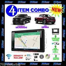 2014 2015 2016 SILVERADO & SIERRA DVD CD NAVIGATION BLUETOOTH DOUBLE DIN STEREO