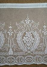 Madelyn white cotton lace window valance shabby chic cottage bris-bise 24""