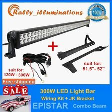 "07-14 Jeep Wrangler JK +52"" 300W LED Light Bar + 1PC Wiring Kit DRIVING SUV ATV"