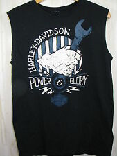 Harley Davidson T Shirt Medium M Fort Myers Power Glory Sleeveless Graphic Tee