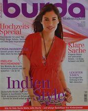 BURDA style - 04/2009 + motifs de coupe-coudre revue magazine cahier top