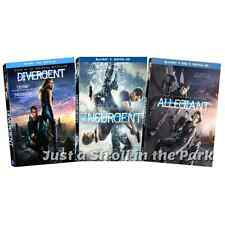The Divergent Series Original + Insurgent + Allegiant Complete Box/BluRay Set(s)