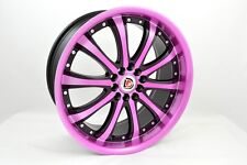 18 pink Wheels Rims GS300 ES350 Mustang Beetle K900 Optima Eclipse 5x100 5x114.3