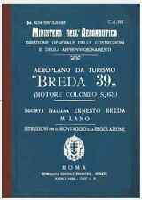 BREDA 39 Ba19 Coloniale Colombo CA192 AIRCRAFT AERONAUTICA FLIGHT Manual - DVD