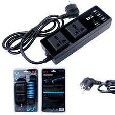 Intelligent Power Strip 2 Universal Outlet + 4 USB Charger Port for Mobile Phone