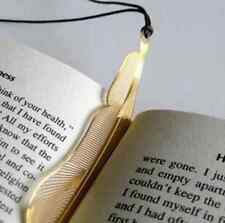 Scholarly Gold Feather Bookmarks Beautiful Metal Fiction Magazine Book Reading U