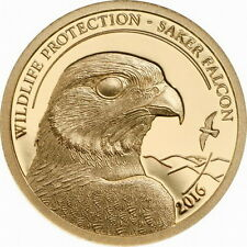Mongolia 2016 Nature Owl 1000 Tugrik Gold Coin,Proof