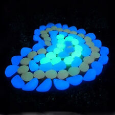 10× Colorful Glow in The Dark Stones Pebbles Rock For Fish Tank Aquarium Fashion