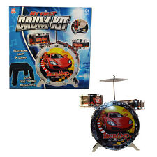 Kids Sound & Light Up My First Drum Kit With Stool & Drum Sticks - NEW