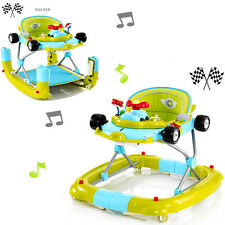 NEW MY CHILD ACE SPORT F1 3 IN 1 CAR WALKER / ROCKER GO GO GREEN WITH TOY CAR